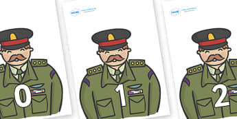 Numbers 0-31 on Generals - 0-31, foundation stage numeracy, Number recognition, Number flashcards, counting, number frieze, Display numbers, number posters