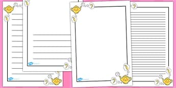 I'm a Little Teapot Page Borders - I'm a Little Teapot, page border, border, writing template, frame, nursery rhyme, rhyme, rhyming, nursery rhyme story, nursery rhymes, teapot, tea, I'm a Little Teapot resources