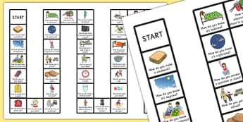 How…? Questions Board Game - Turn taking, Inferencing, Verbal Reasoning, Speaking and Listening