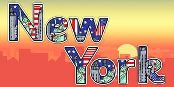 New York Display Lettering - display lettering, new york, display