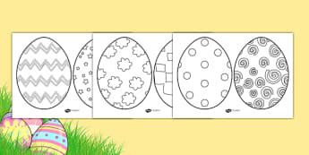 Easter Egg Template - easter egg template, easter egg, foundation