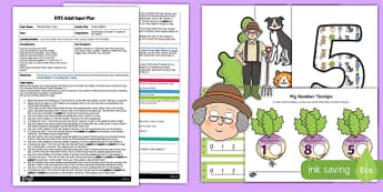 EYFS Turnip Addition Adult Input Plan and Resource Pack