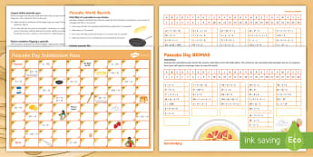 Pancake Day Activity Pack - pan, cake, Maths, seasonal, fun, bumper, resource, festive, shrove tuesday, ash wednesday