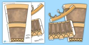 Christopher Columbus Telescope Paper Model