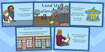 Land Use Challenge Cards - land use, challenge cards, challenge