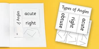 Angle Activity Foldable Visual Aid Activity - angle, visual aid, Angles, acute, right, obtuse