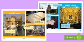 The Golden Temple Comparison Activity - religion, worship, Christian, cathedral, church, Sikh, temple, Golden Temple, similarity, features o