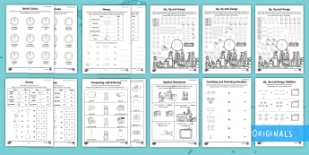 Up, Up and Away! Maths Activity Pack - Aistear, airport, travel, holiday, addition, time, story, book, Irish