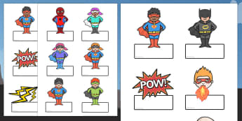 Editable Superhero Labels - editable, superhero themed, editable labels, superhero labels, editable superhero themed labels, editable superhero labels