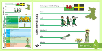 St. David's Day Differentiated Concept Maps - concept map, mind map, St David's Day concept map