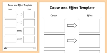 Cause and Effect Anchor Chart - cause and effect, cause and effect template, graphic organiser