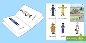 Community Helpers Emergent Reader - emergent reader, community helpers emergent reader, community helpers, labor day, labor day emergent