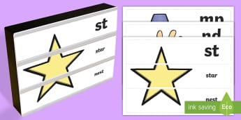 Phase 4 Phonics Light Box Inserts - phonics, phoneme, grapheme, sound, letters, phase 4, cvc, consonant, vowel, segment, blend, spelling