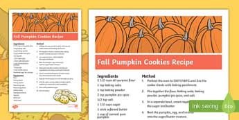 Fall Pumpkin Cookies Recipe