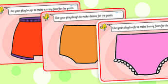 Story Playdough Mats to Support Teaching on Pants - pants, pants story, playdough mats, play dough mats, play doh mats, playdough, play doh, fine motor skills, activities, games