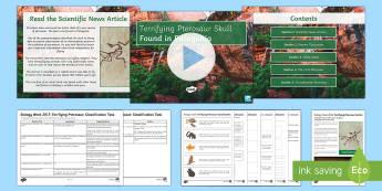Biology Week Activity Pack - Biology Week, pterosaur, palaeontology, palaeontologist, Patagonia, fossils, classification, species