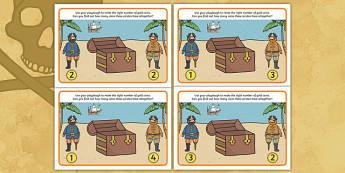 Pirate Addition Playdough Mats