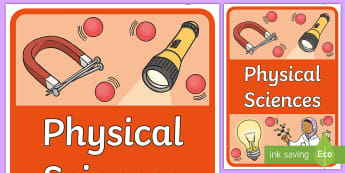 Physical Sciences Book Cover - Australian Curriculum, physical science, title page, cover page, science journal, book label,Austral