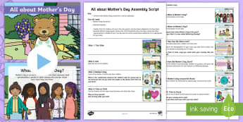 EYFS All about Mother's Day Assembly Pack - mummy, mummies, love, cuddles, hearts, flowers, chocolates