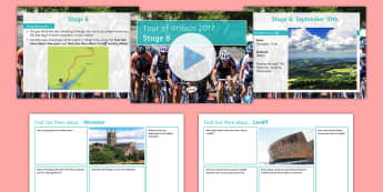 Tour of Britain Stage 8: Worcester to Cardiff Activity Pack - events, cycle, race, form, period, ks3