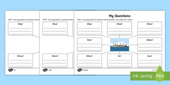 Posing Geographical Questions Differentiated Worksheet / Activity Sheets - KS1, Geography,Australia, geog, question, worksheet