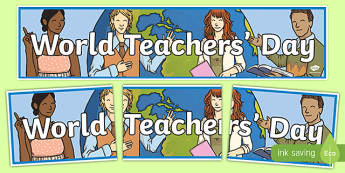 World Teachers' Day Display Banner-Irish