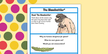 The Bloodbottler Challenge Activity to Support Teaching on The BFG - bfg, challenge activity
