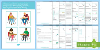 EDUQAS GCSE English Language Paper 1 Revision Booklet - English language GCSE Exam Papers, WJEC, EDUQAS, revision, paper one, reading, writing, 20th century