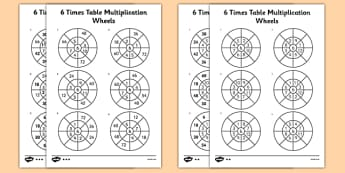 Times Tables 6 Times Tables Primary Resources Calculations Time