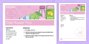 Elderly Care Mother's Day Non-Alcoholic Drink Recipe - Elderly, Reminiscence, Care Homes, Mother's Day, activity, memory