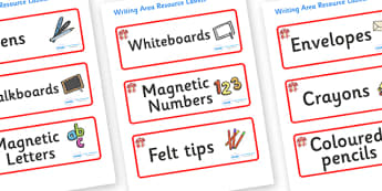 Dragon Themed Editable Writing Area Resource Labels - Themed writing resource labels, literacy area labels, writing area resources, Label template, Resource Label, Name Labels, Editable Labels, Drawer Labels, KS1 Labels, Foundation Labels, Foundation