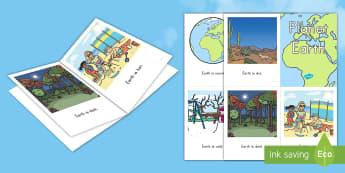 Planet Earth Emergent Reader - Planet Earth emergent reader, Earth Day, emergent reader, early reading, beginner readers, basic rea