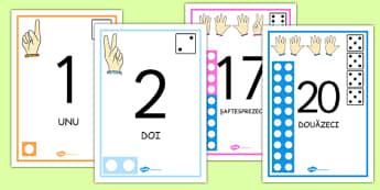Numerele 0-20 - Planșe - numere, 0-20, numerație, concentrul 0-20, clasa pregătitoare, planșe, de afișat, materiale, materiale didactice, română, romana, material, material didactic