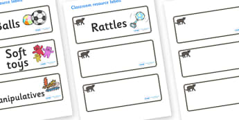 Panther Themed Editable Additional Resource Labels - Themed Label template, Resource Label, Name Labels, Editable Labels, Drawer Labels, KS1 Labels, Foundation Labels, Foundation Stage Labels, Teaching Labels, Resource Labels, Tray Labels, Printable