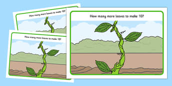 Beanstalk Leaves to Make 10 Playdough Mats - EYFS Early years, malleable physical development, UTW, Jack and the beanstalk, Jaspers beanstalk, plants and growth, growing, beans