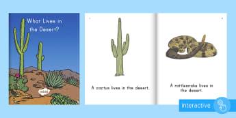 Desert Habitat Emergent Reader eBook - desert habitat, desert animals, desert, habitats, ebook, emergent reader, desert habitat ebook, habi