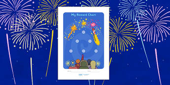 Bonfire Night Sticker Reward Chart (15mm) - Bonfire Night Sticker Reward Chart (15mm), Bonfire, reward chart, chart, reward, 15mm, 15 mm, stickers, twinkl stickers, award, certificate, well done, behaviour management, behaviour,  Bonfire, Fireworks N