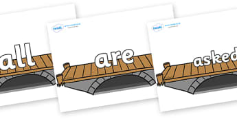 Tricky Words on Bridges - Tricky words, DfES Letters and Sounds, Letters and sounds, display, words