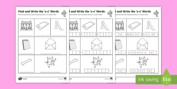 Find and Write the o_e Words Differentiated Activity Sheets - Phonics activity, phase 5, letters and sounds, o-e sound, find the sound, sort the pictures, write t
