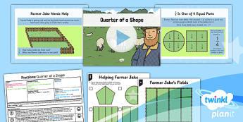 PlanIt Maths Y1 Fractions Lesson Pack Quarters (1)