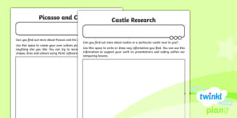 Computing: Using and Applying Year 2 Home Learning Tasks