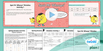 PlanIt Y2 Term 2A Assess and Review Spelling Pack - Spellings Year 2, Term 2A, assess, review, cloze procedure passages, dictation, mistakes, Mr Whoops