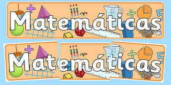Matemáticas Display Banner Spanish - spanish, mathematics display banner, maths display banner, maths banner, mathematics display, mathematics, numeracy