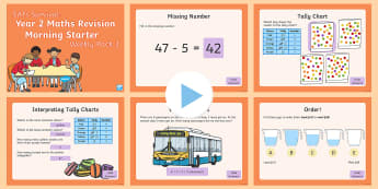 SATs Survival Year 2 Maths Revision Morning Starters (3) PowerPoint - SATs Survival Materials Year 2, SATs, assessment, 2017, English, SPaG, GPS, grammar, punctuation, sp