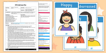 Making Faces Activity EYFS Adult Input Plan and Resource Pack - adult led, plan, expressions