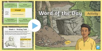 Year 3 Autumn 2 Word Of The Day PowerPoint - vocabulary, Word Class, Ambitious, morning activities, improving writing, lks2, spag, Grammar
