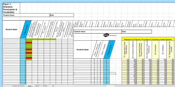 Y6 Grammar, Punctuation and Spelling Analysis Grid for KS2 2016 SAT Sample Paper Assessment Spreadsheet - SATs Survival Materials Year 6, SATs, assessment, 2017, English, SPaG, GPS, grammar, punctuation, sp