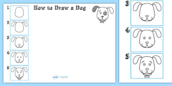 How to Draw a Dog - drawing, animals, wet play, design