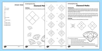 Diamond Maths Activity Sheet, worksheet