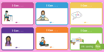 'I Can' Statement Display Posters - EYLF, Australia, early years, foundation, visible learning, WALT, assessment, kindergarten guideline